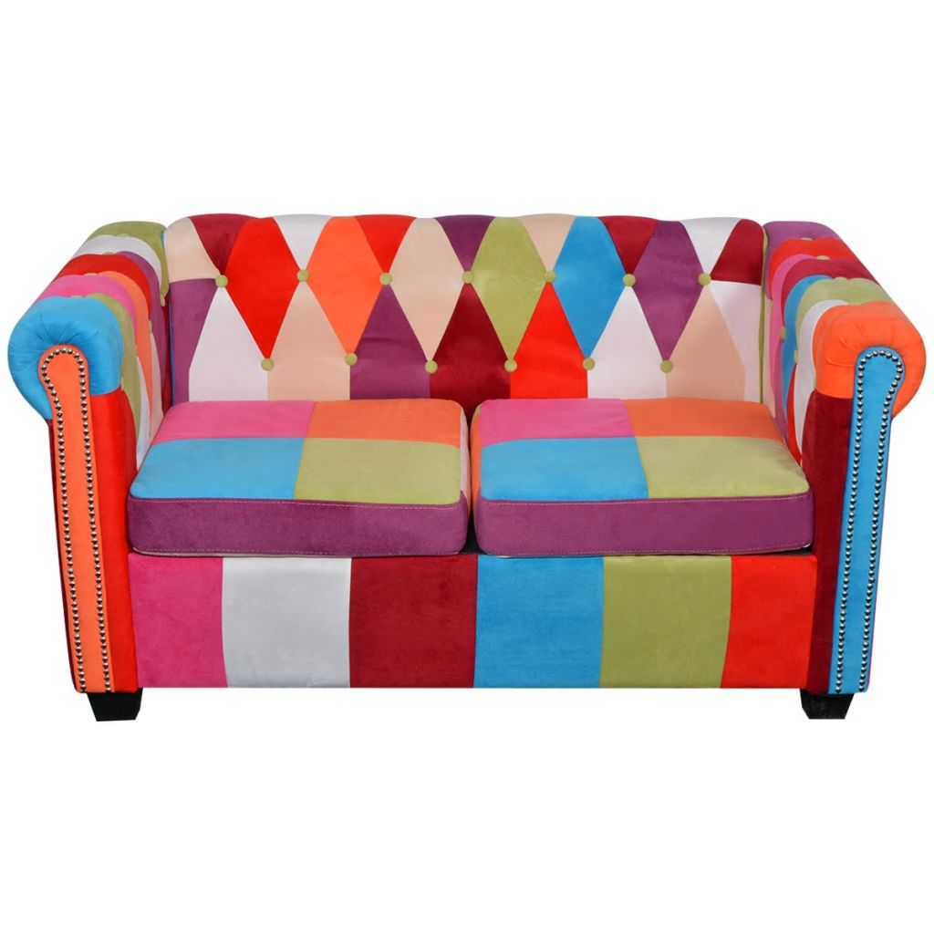 Chesterfield Sofa 2-Seater Fabric 3