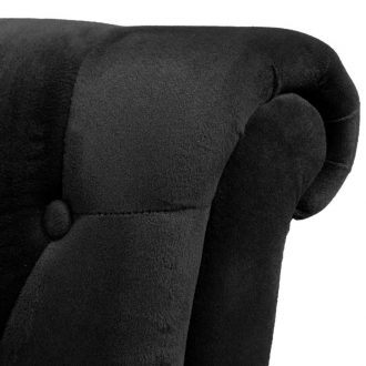 High Back Sofa Chair Black Fabric 5