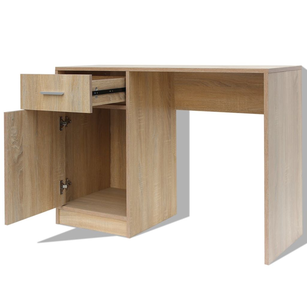 Desk with Drawer and Cabinet Oak 100x40x73 cm 5