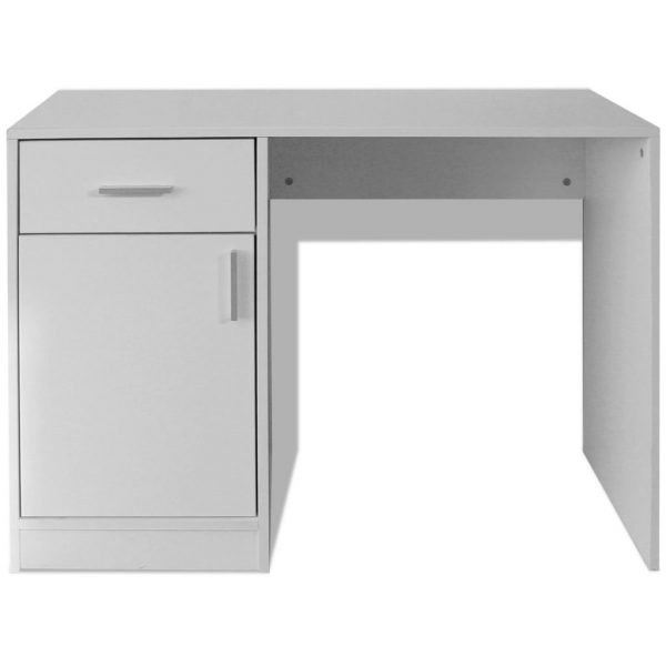 Desk with Drawer and Cabinet White 100x40x73 cm 4
