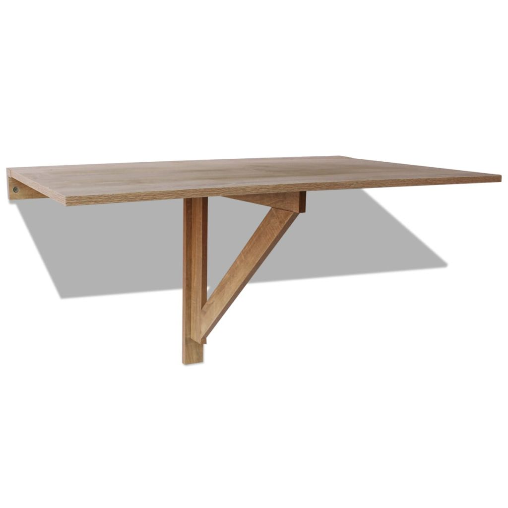 Folding Wall Table Oak 100×60 cm 2