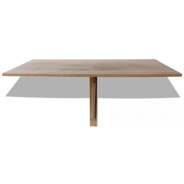 Folding Wall Table Oak 100×60 cm 3