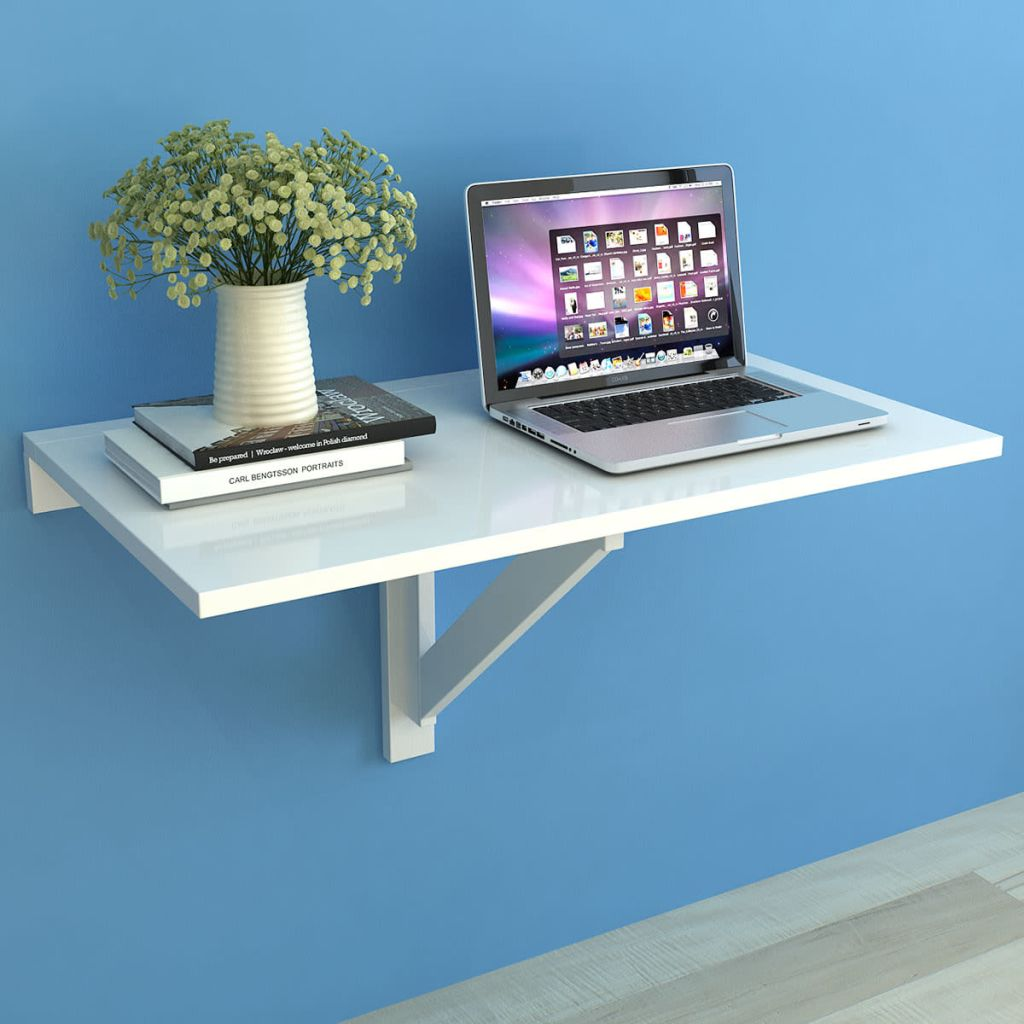Folding Wall Table White 100×60 cm 1