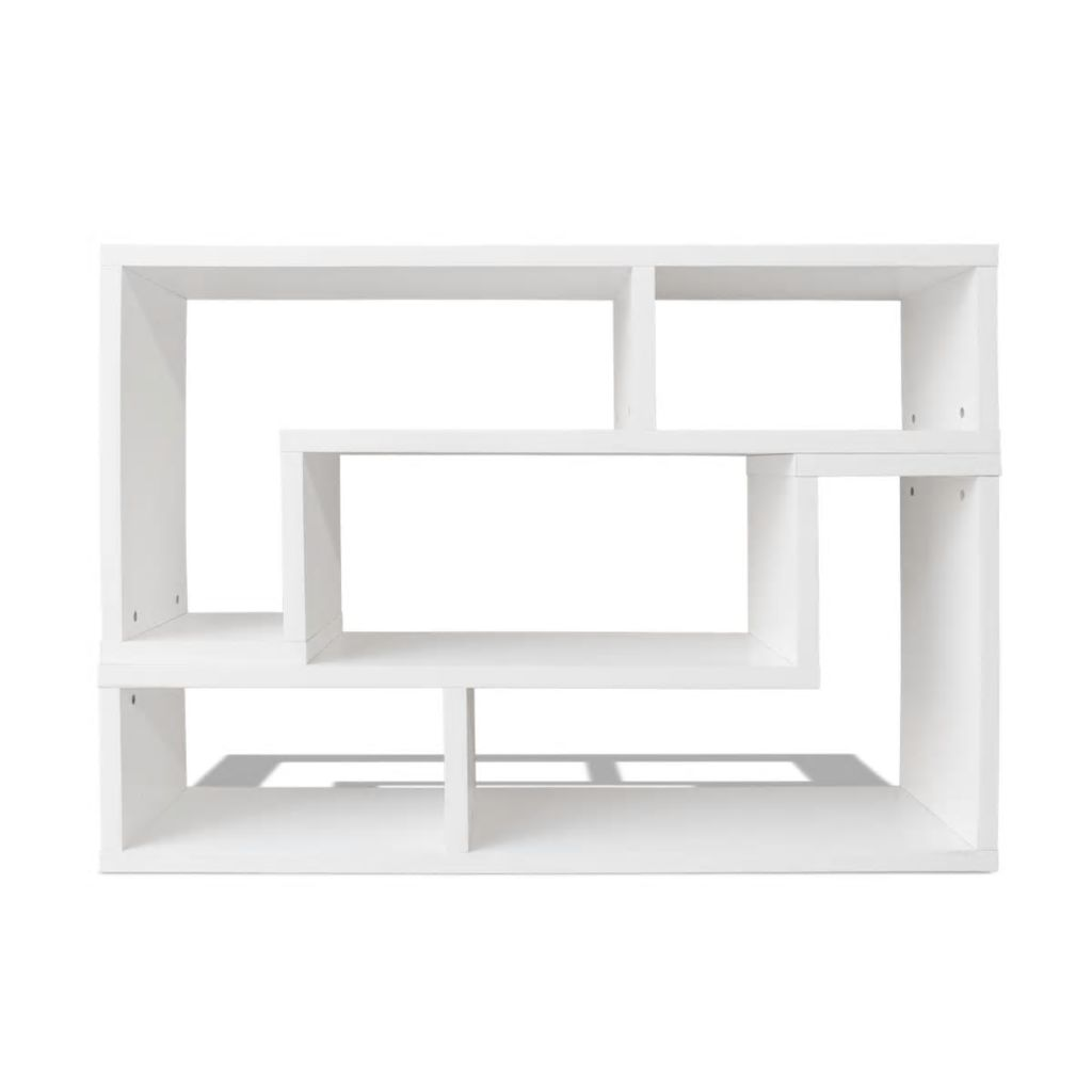TV Cabinet Double L-Shaped White 3
