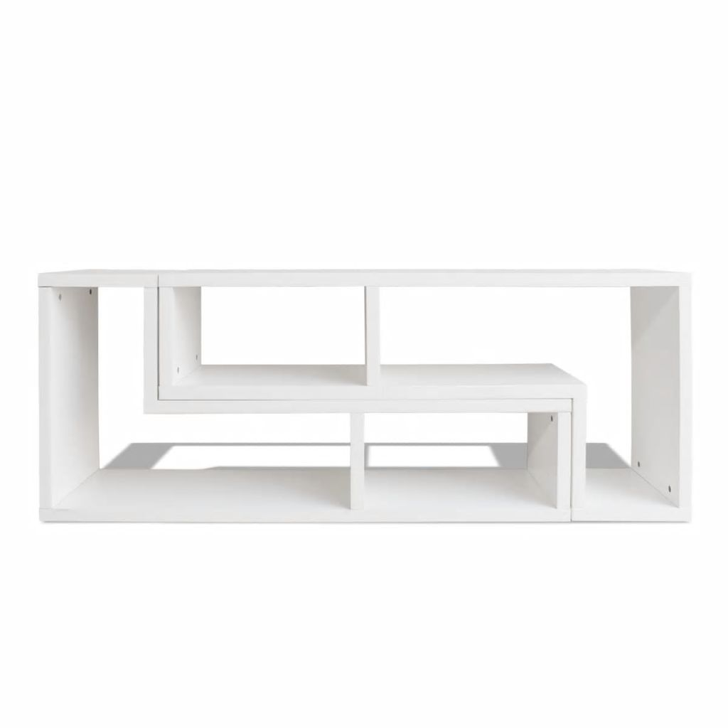 TV Cabinet Double L-Shaped White 4