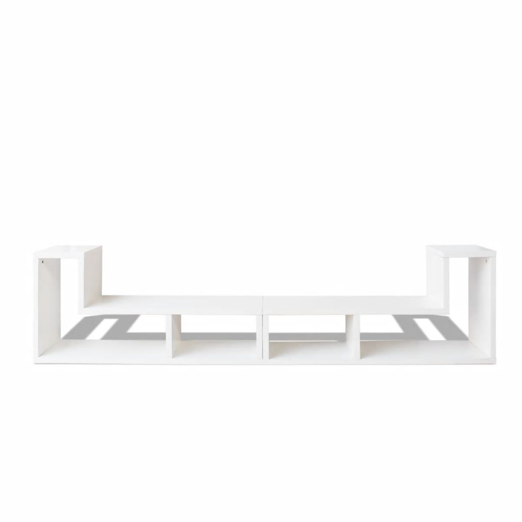 TV Cabinet Double L-Shaped White 5