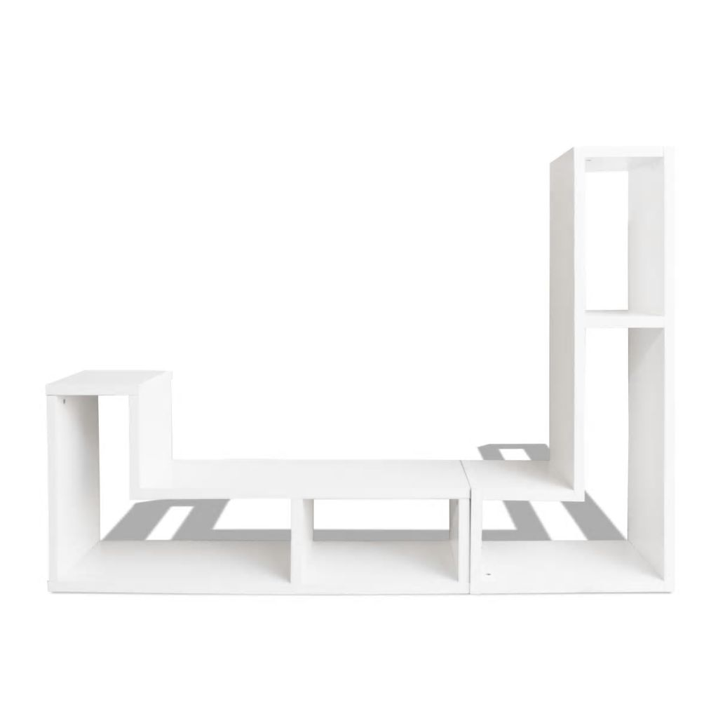 TV Cabinet Double L-Shaped White 6