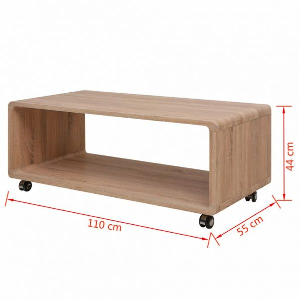 Coffee Table Brown 4
