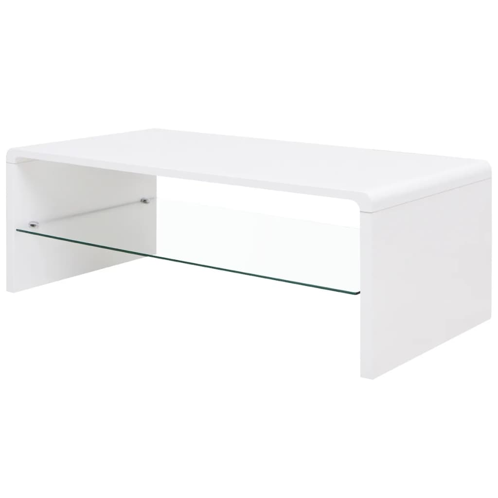 High Gloss Coffee Table White