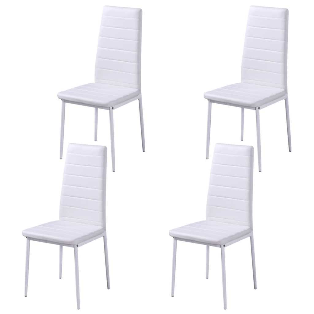 Five Piece Dining Table Set Black and White 5