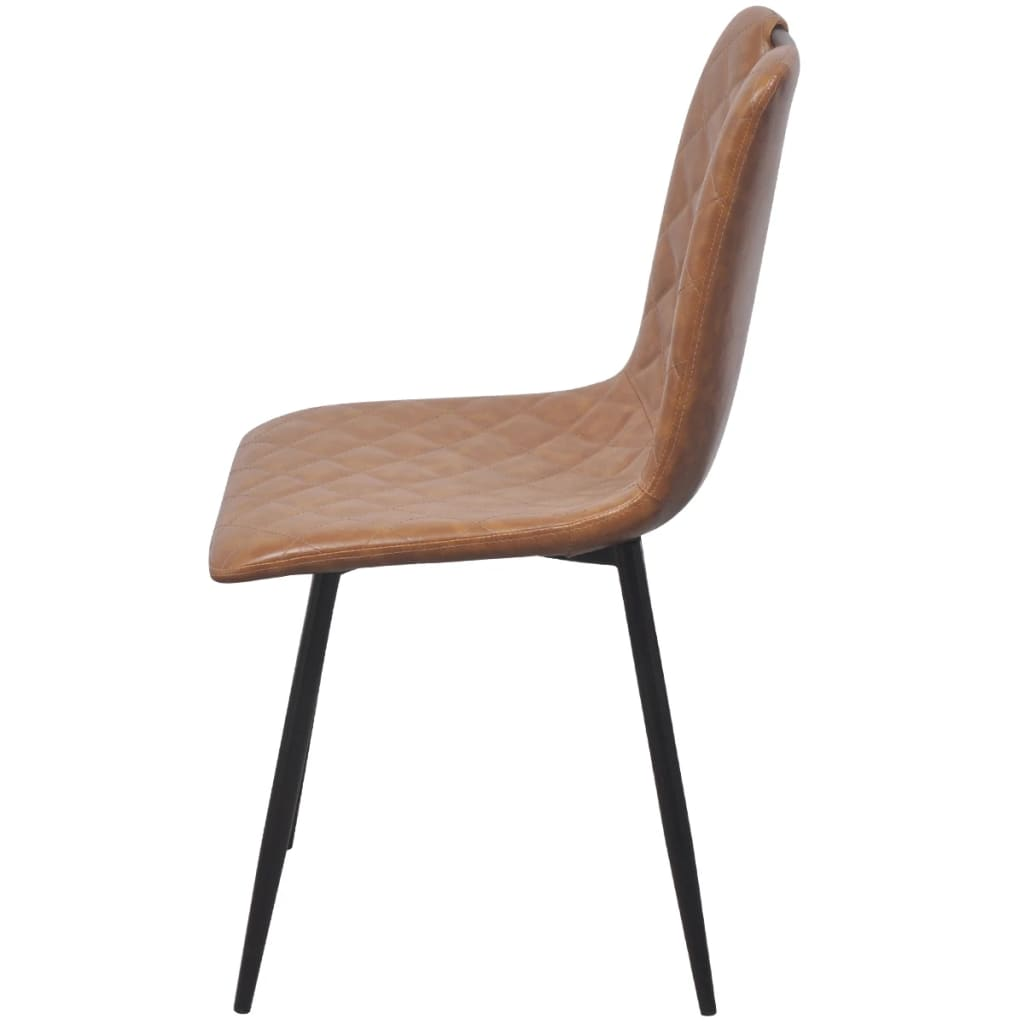 Dining Chairs 4 pcs Light Brown Faux Leather 4