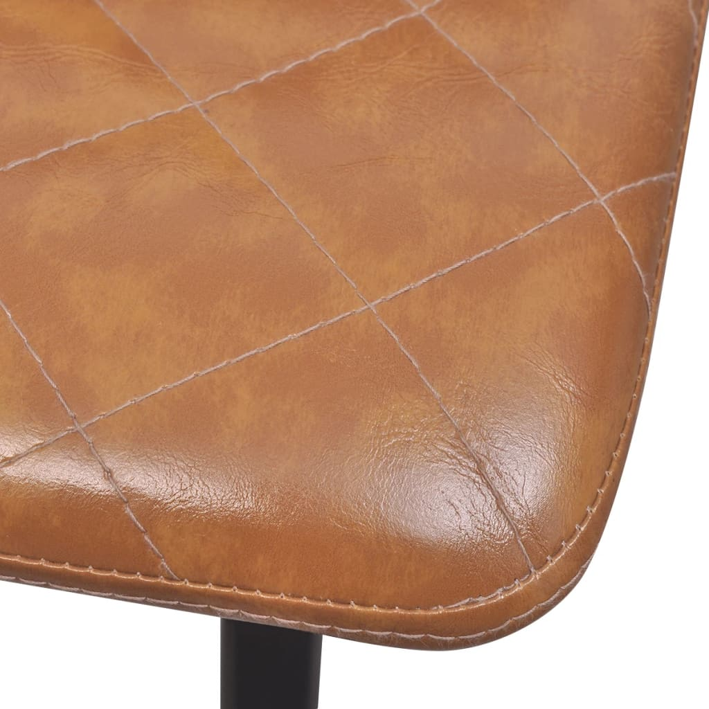 Dining Chairs 4 pcs Light Brown Faux Leather 6