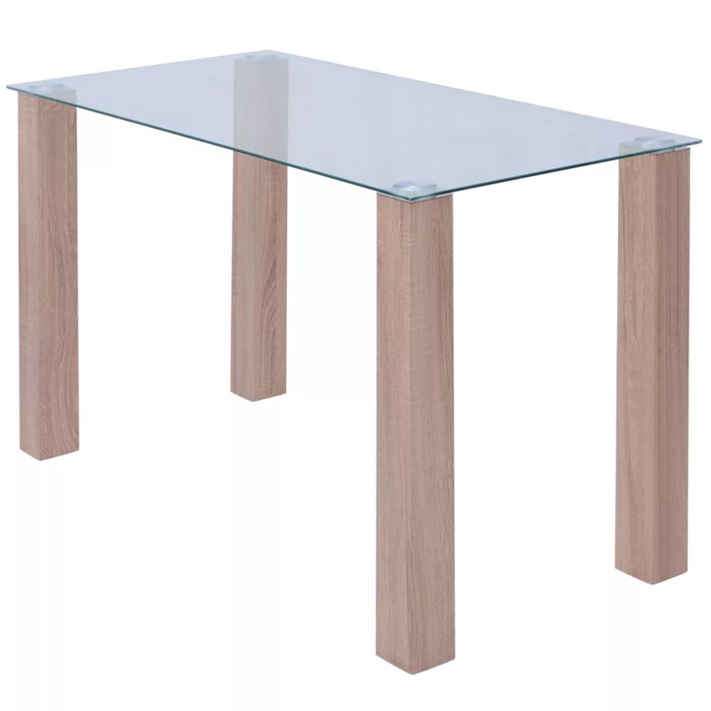 Dining Table Glass 120x60x75 cm 1
