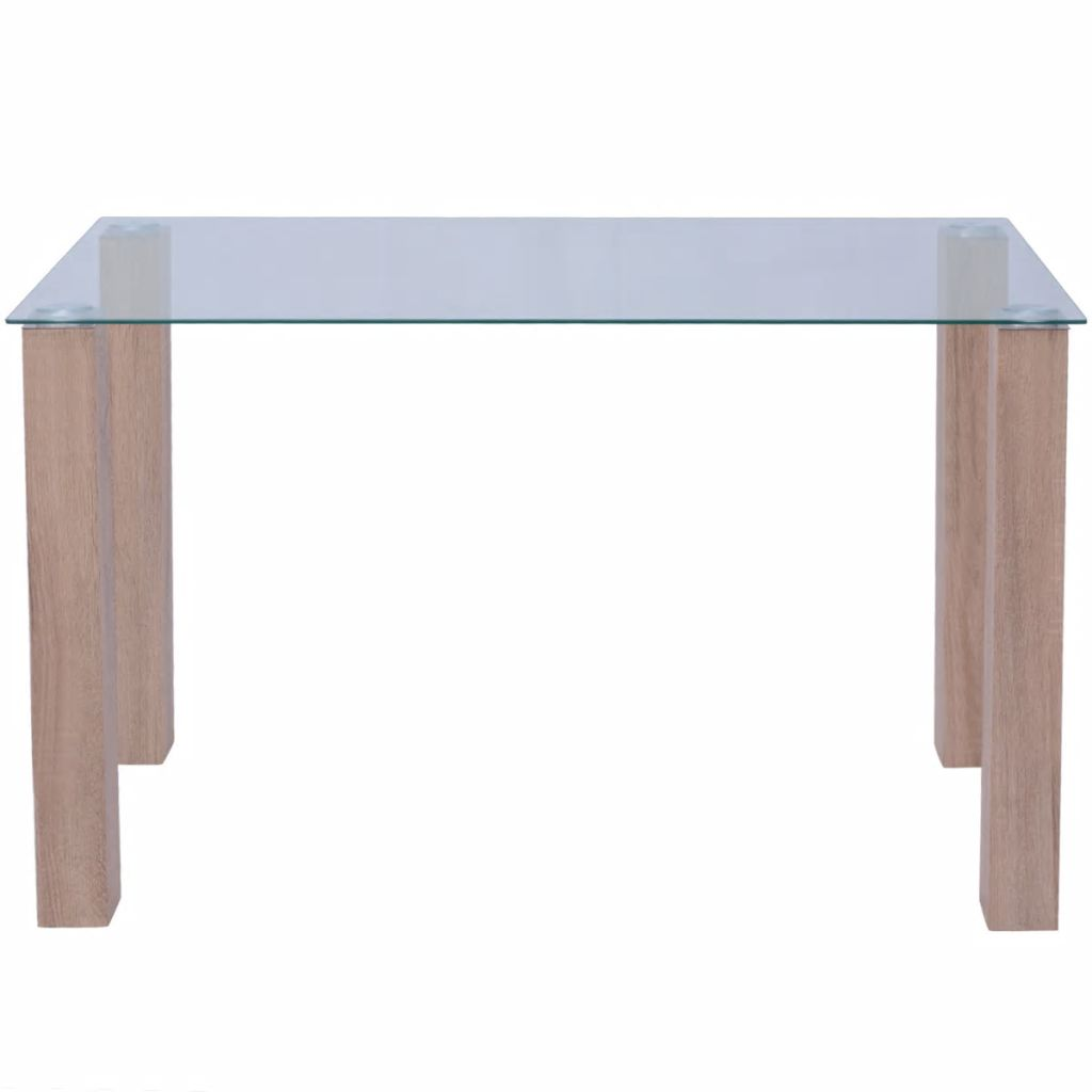Dining Table Glass 120x60x75 cm 2