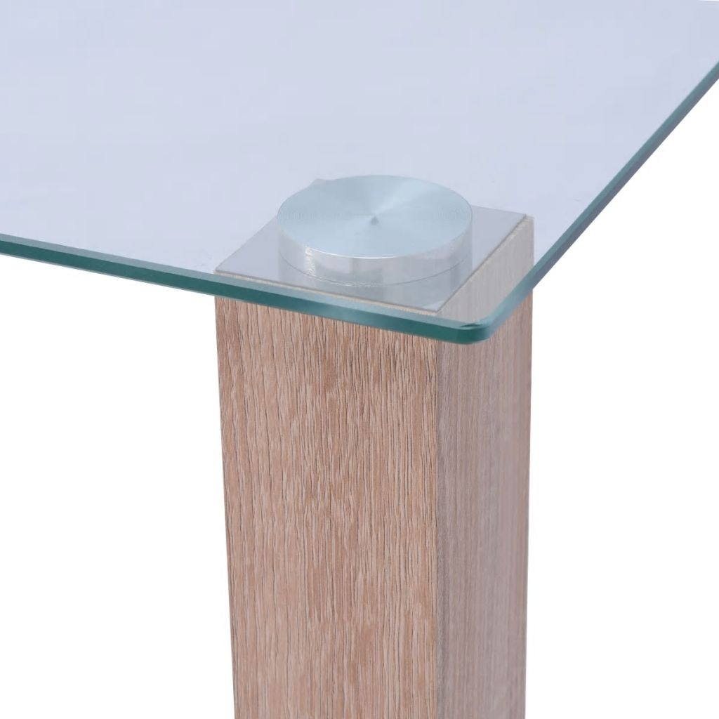 Dining Table Glass 120x60x75 cm 3