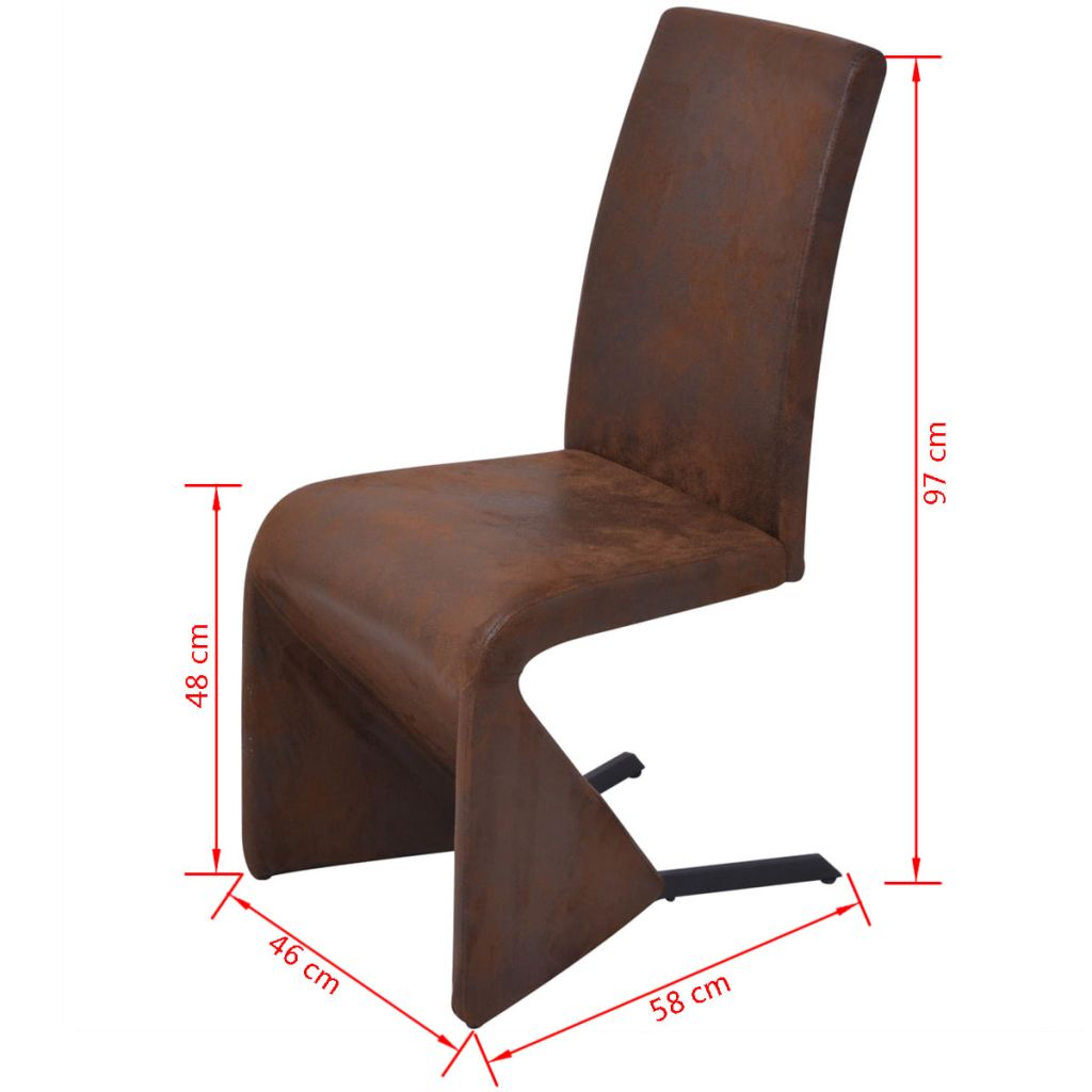 Dining Chairs 2 pcs Brown Fabric 8