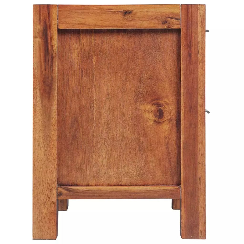 Bedside Cabinet Solid Acacia Wood Brown 45x42x58 cm 3
