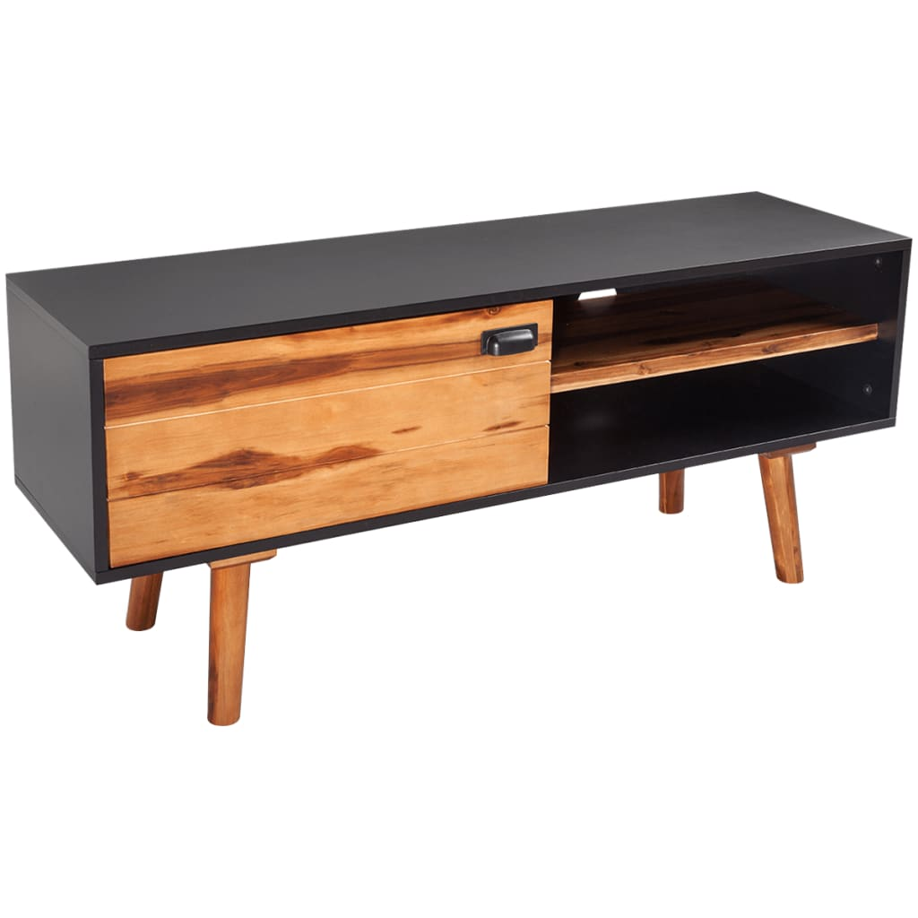 TV Cabinet 120x35x50 cm Solid Acacia Wood 1