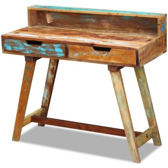 Desk Solid Reclaimed Wood 1