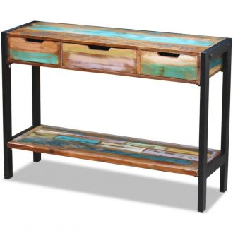 Sideboard 3 Drawers Solid Reclaimed Wood 1