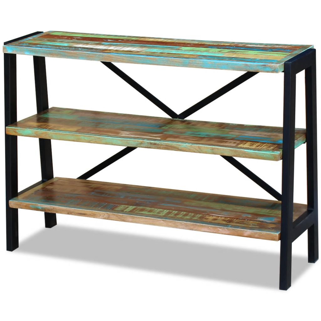 Sideboard 3 Shelves Solid Reclaimed Wood 1