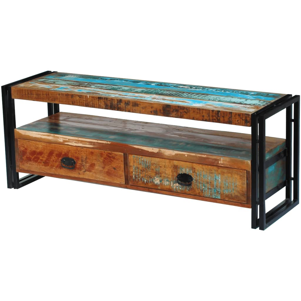TV Cabinet Solid Reclaimed Wood 1