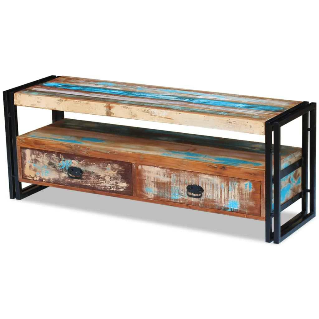 TV Cabinet Solid Reclaimed Wood 3