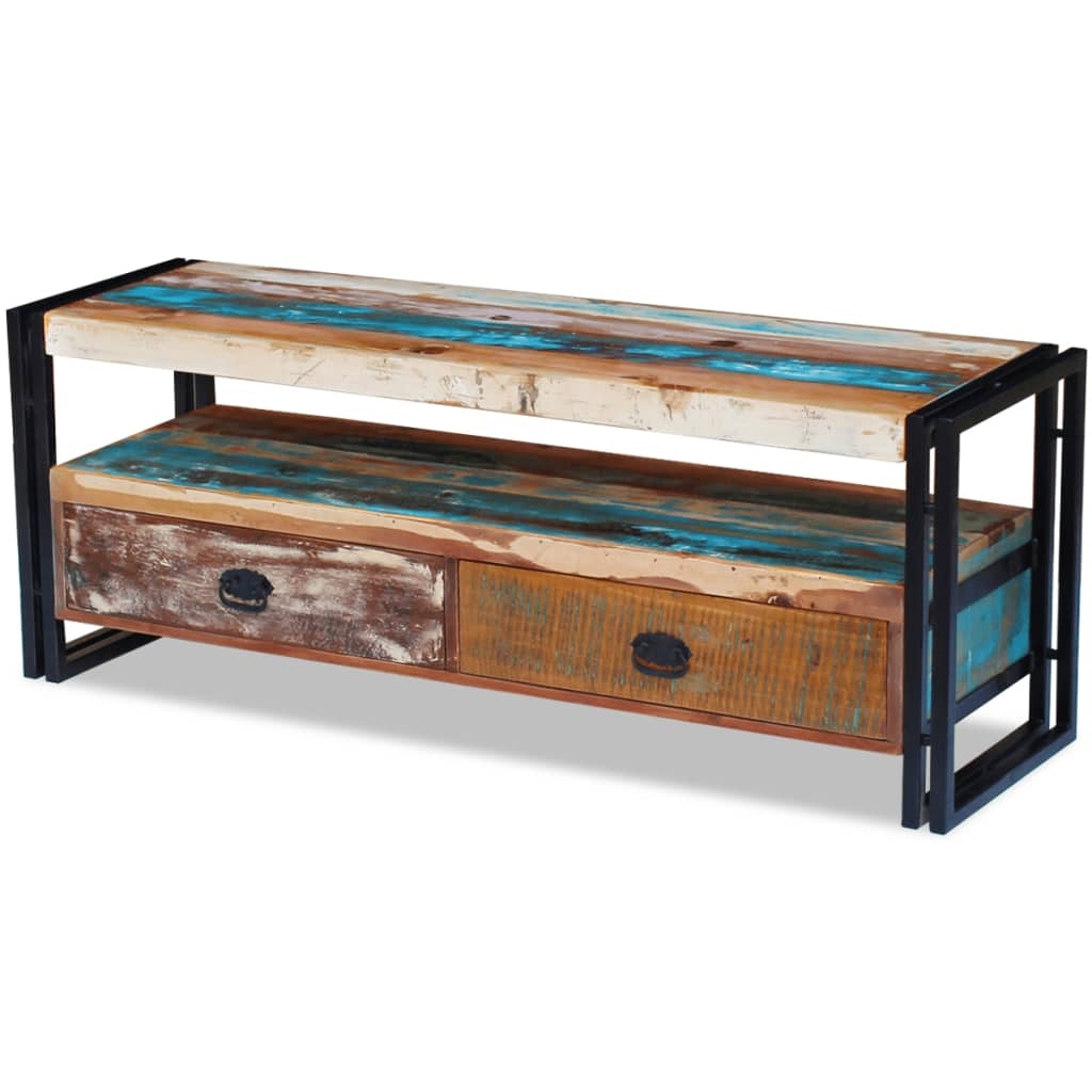 TV Cabinet Solid Reclaimed Wood 4