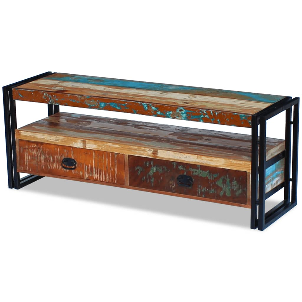 TV Cabinet Solid Reclaimed Wood 5