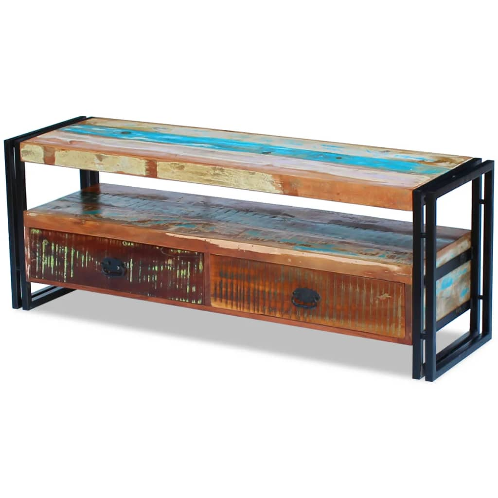 TV Cabinet Solid Reclaimed Wood 6