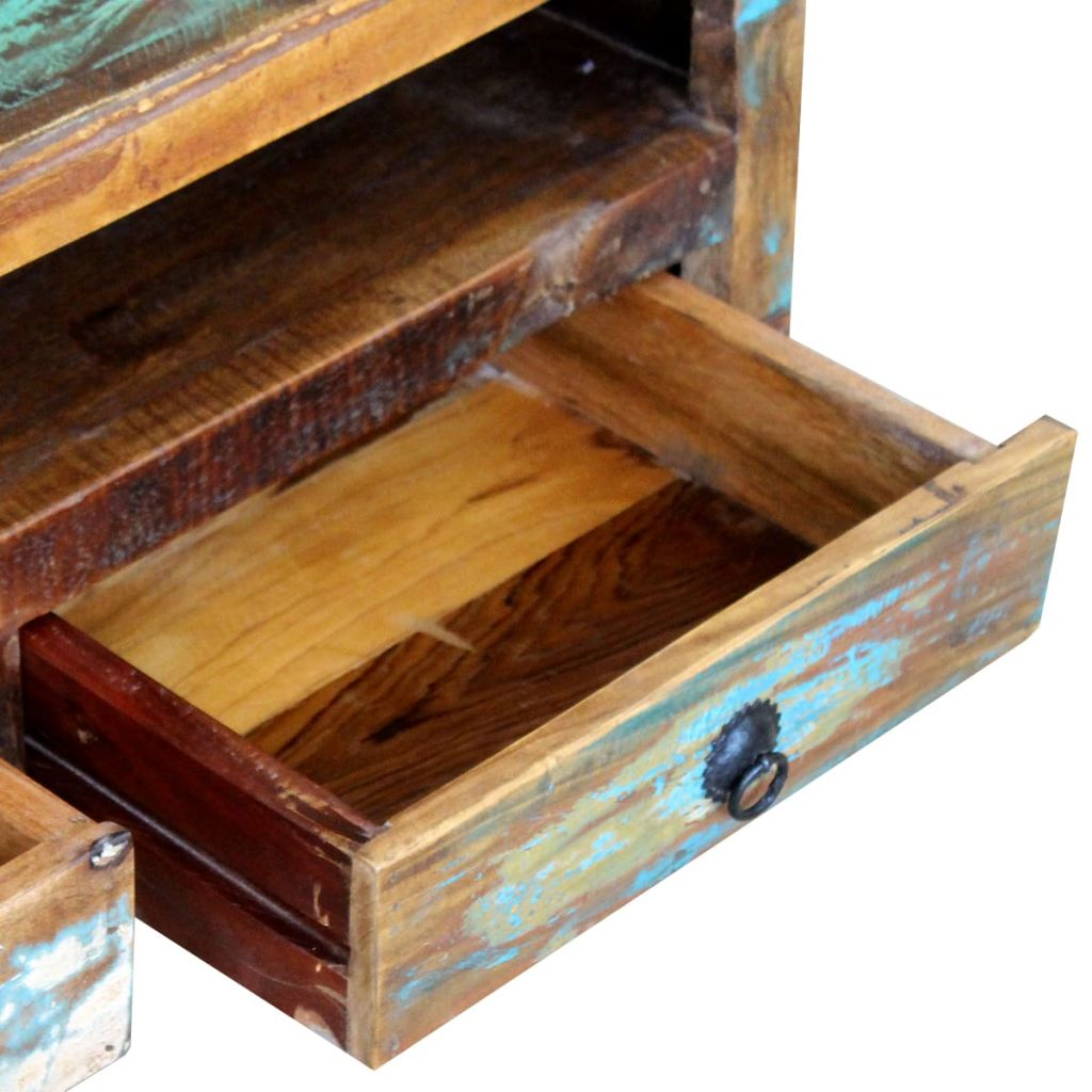 TV Cabinet with 3 Drawers Solid Reclaimed Wood 7