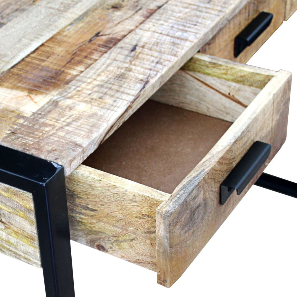 Console Table with 3 Drawers Solid Mango Wood 110x35x78 cm 7