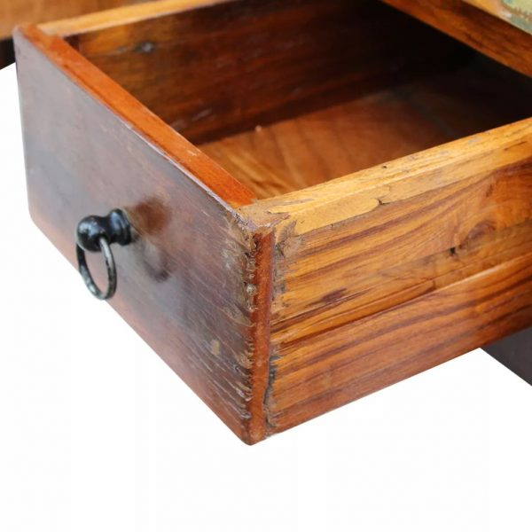 Coffee Table Drawers Solid Reclaimed Wood 90x45x35 cm 7