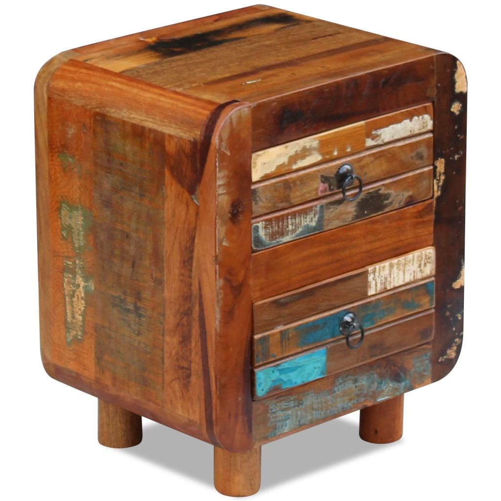Night Cabinet Solid Reclaimed Wood 43x33x51 cm