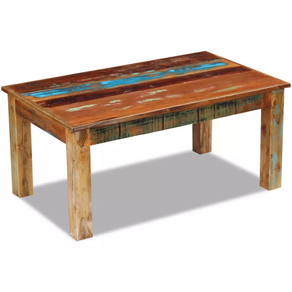 Coffee Table Solid Reclaimed Wood 100x60x45 cm 1