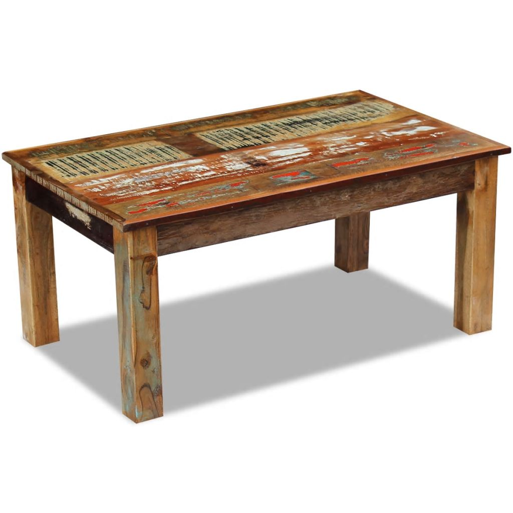 Coffee Table Solid Reclaimed Wood 100x60x45 cm 2