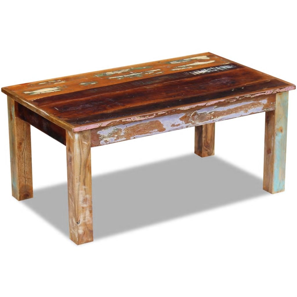 Coffee Table Solid Reclaimed Wood 100x60x45 cm 4