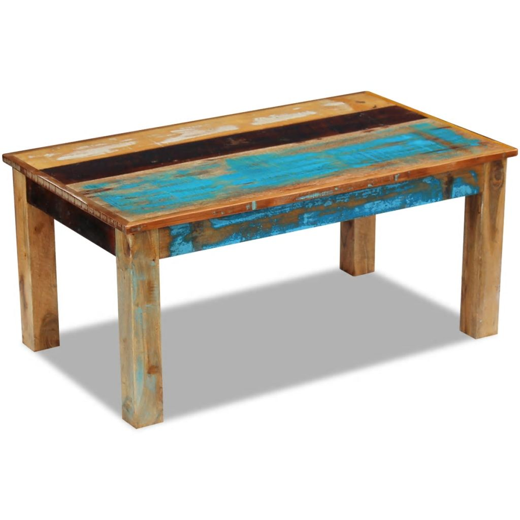 Coffee Table Solid Reclaimed Wood 100x60x45 cm 5