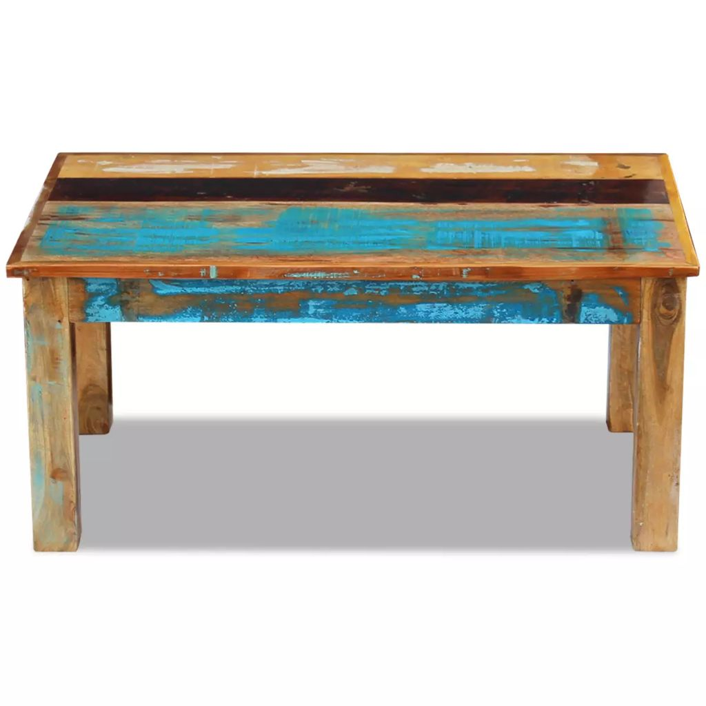 Coffee Table Solid Reclaimed Wood 100x60x45 cm 6