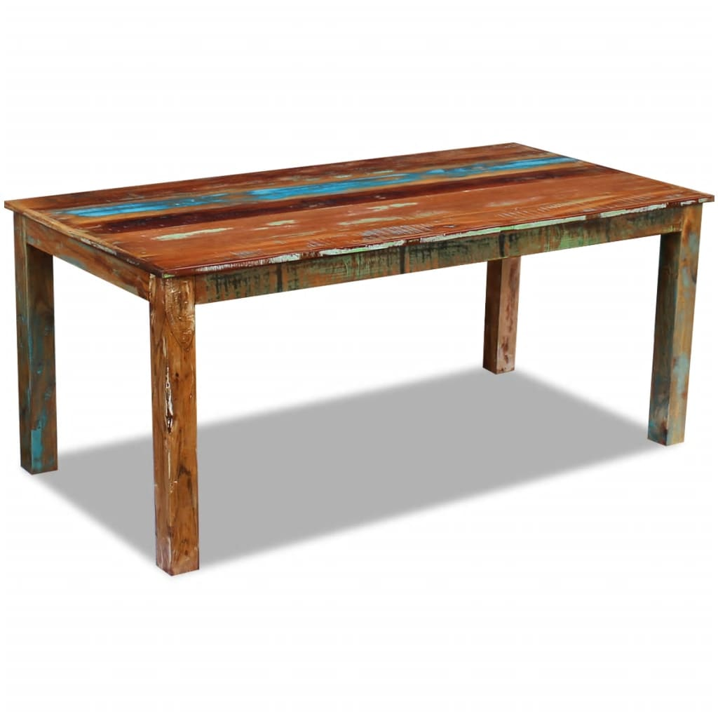 Dining Table Solid Reclaimed Wood 180x90x76 cm 1