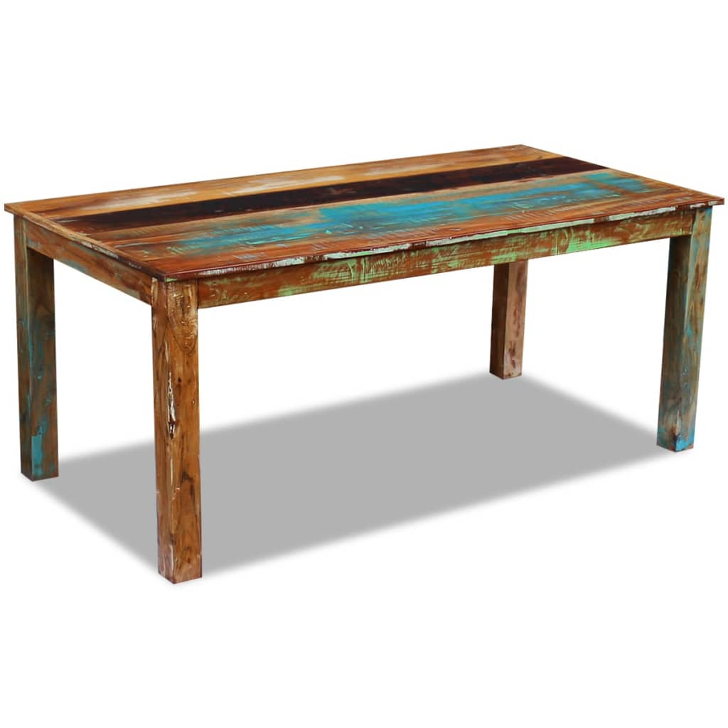 Dining Table Solid Reclaimed Wood 180x90x76 cm 4