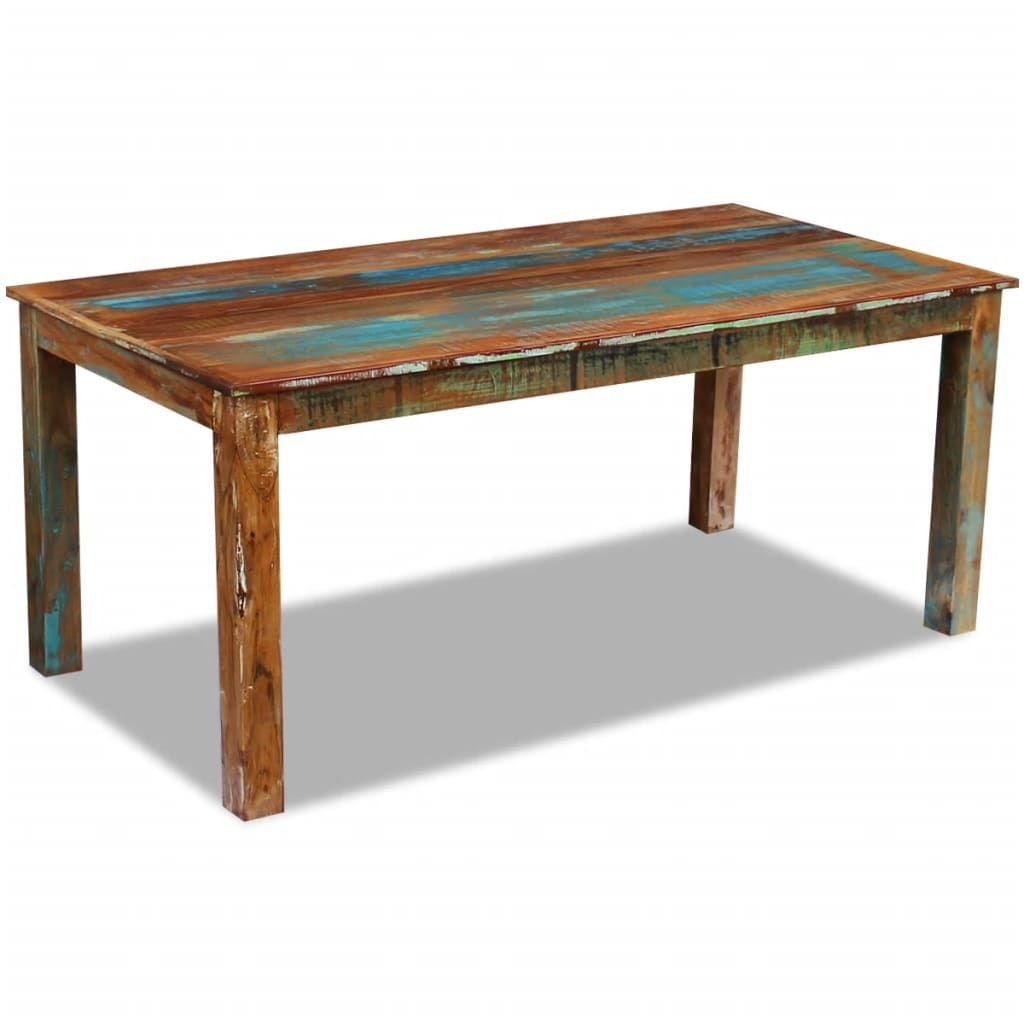 Dining Table Solid Reclaimed Wood 180x90x76 cm 5