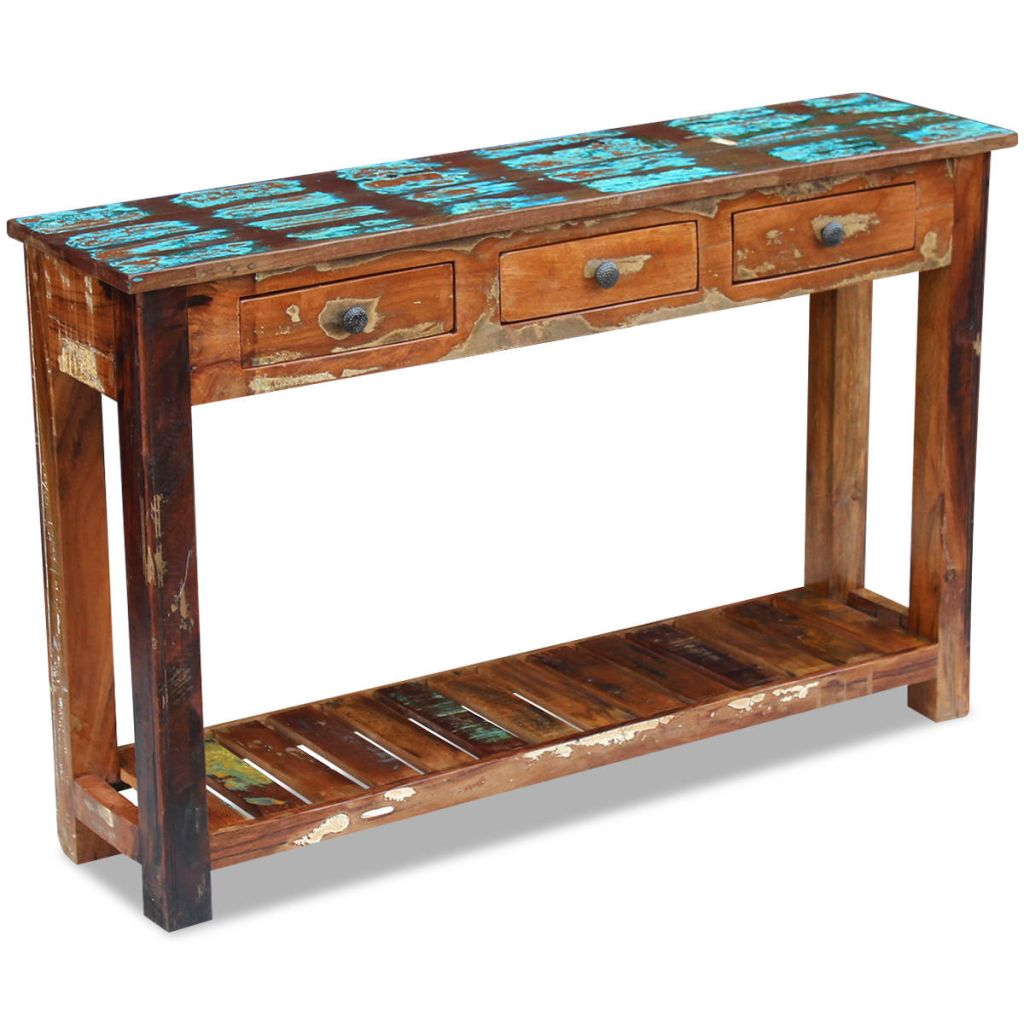 Console Table Solid Reclaimed Wood 120x30x76 cm