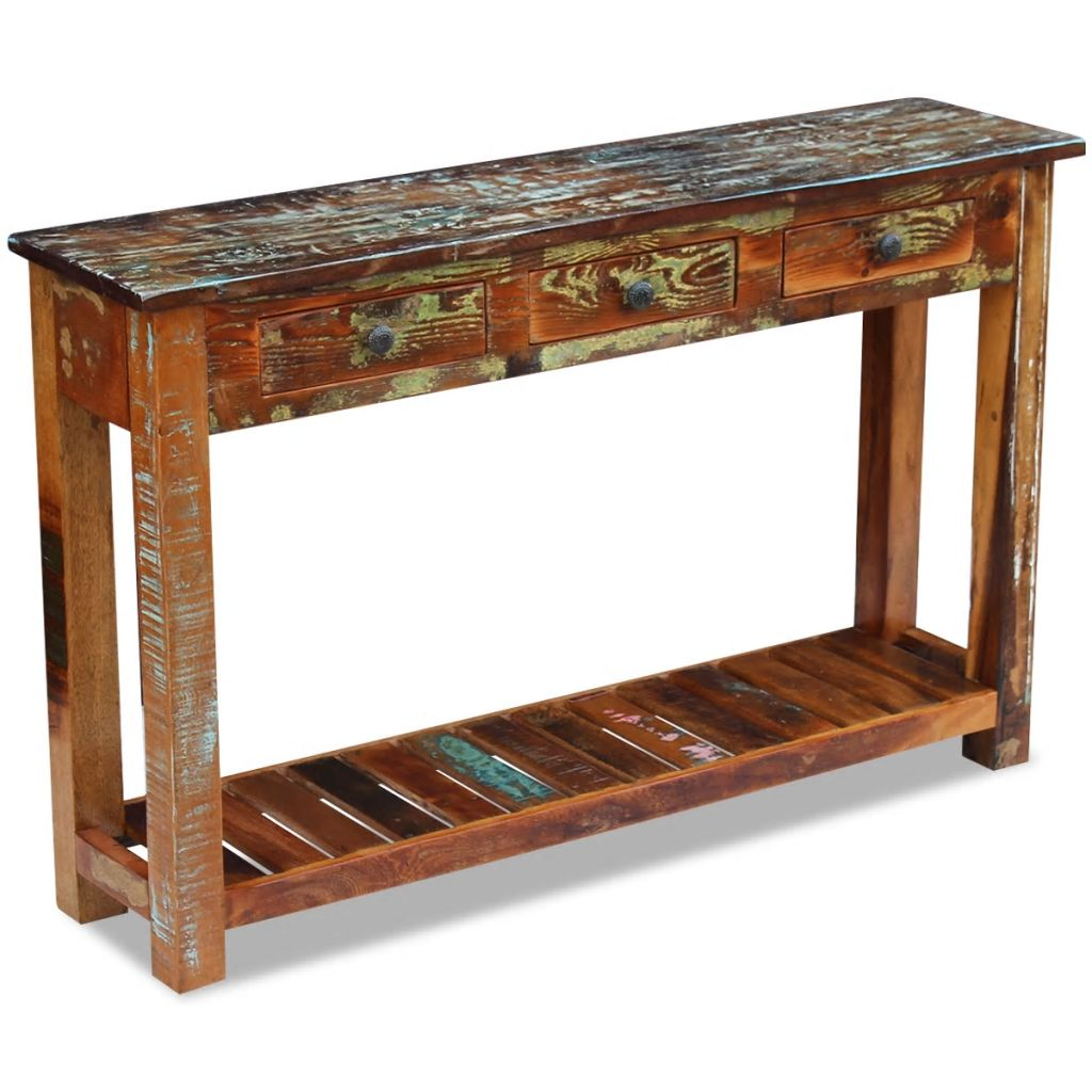 Console Table Solid Reclaimed Wood 120x30x76 cm 4