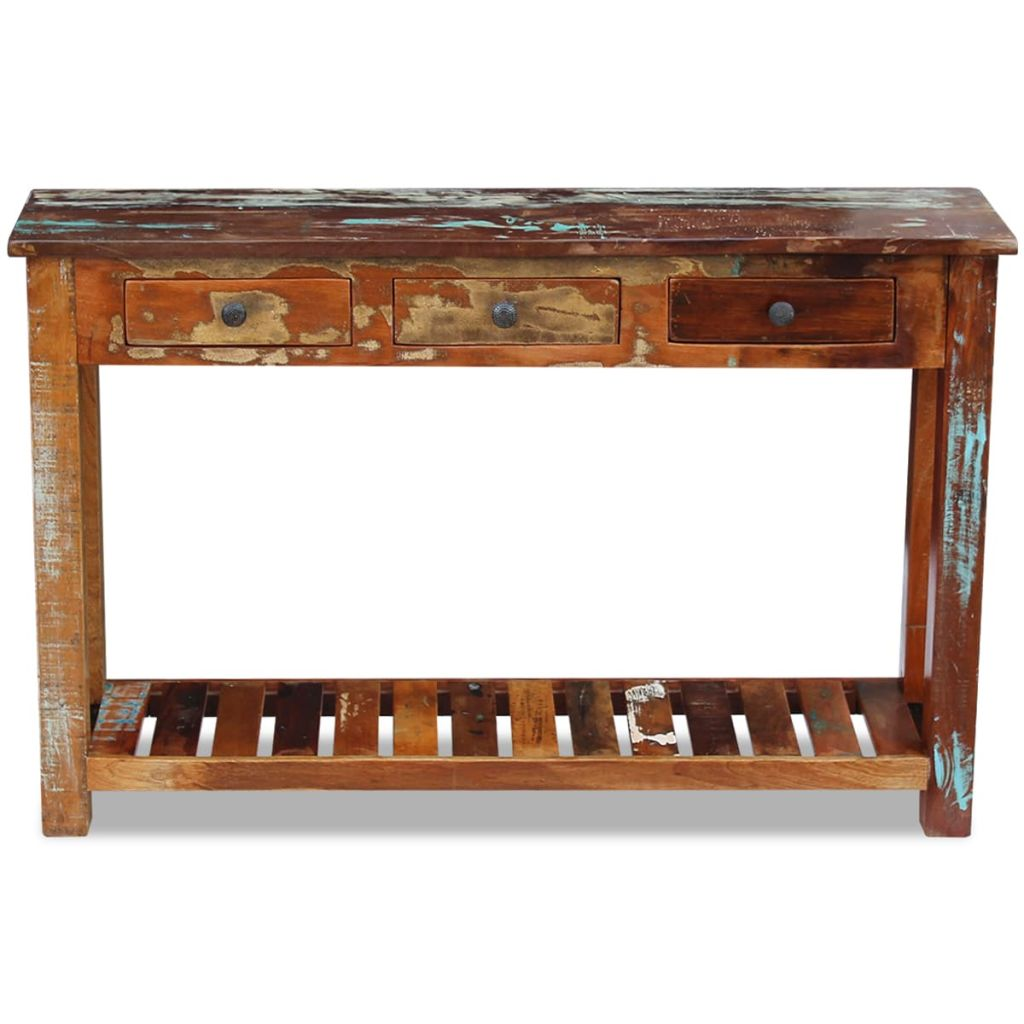 Console Table Solid Reclaimed Wood 120x30x76 cm 6
