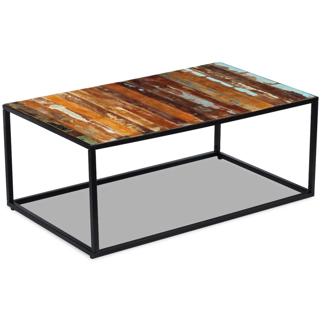 Coffee Table Solid Reclaimed Wood 100x60x40 cm 1