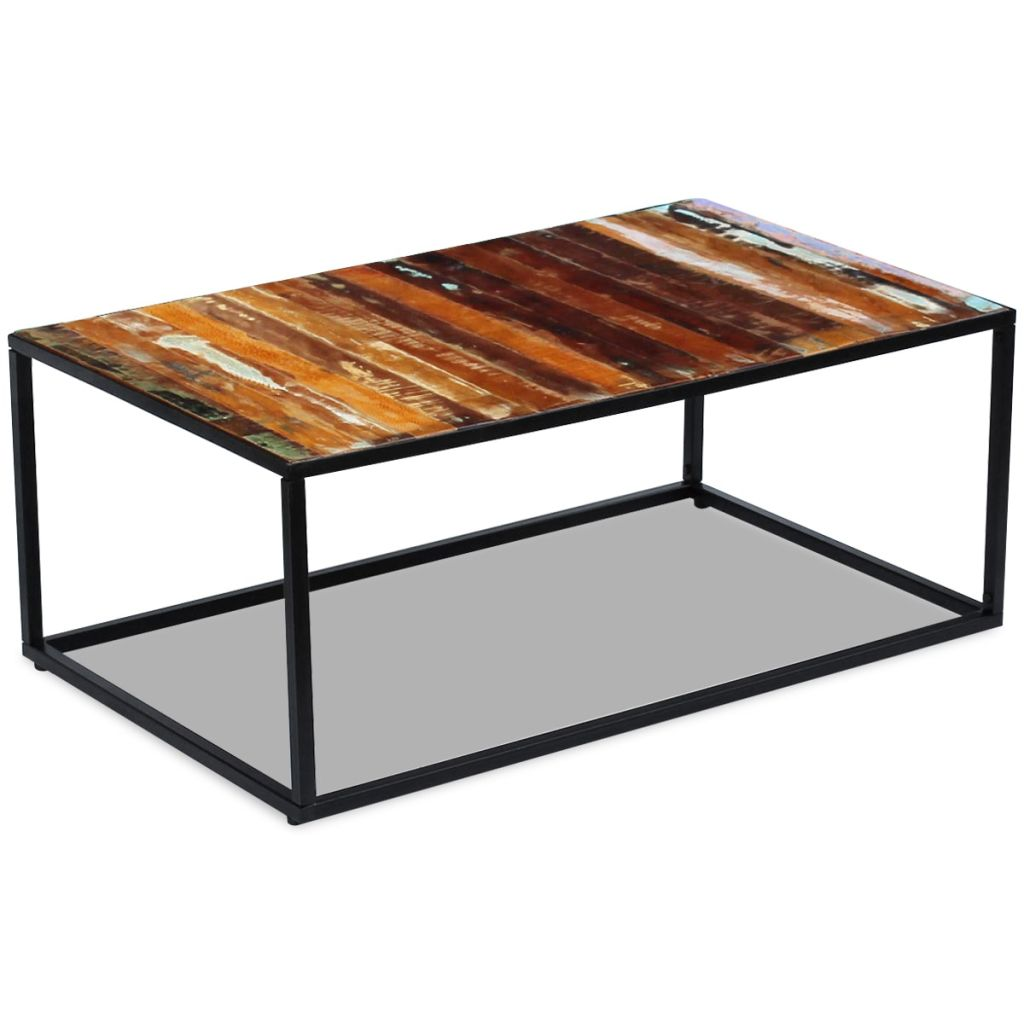 Coffee Table Solid Reclaimed Wood 100x60x40 cm 2