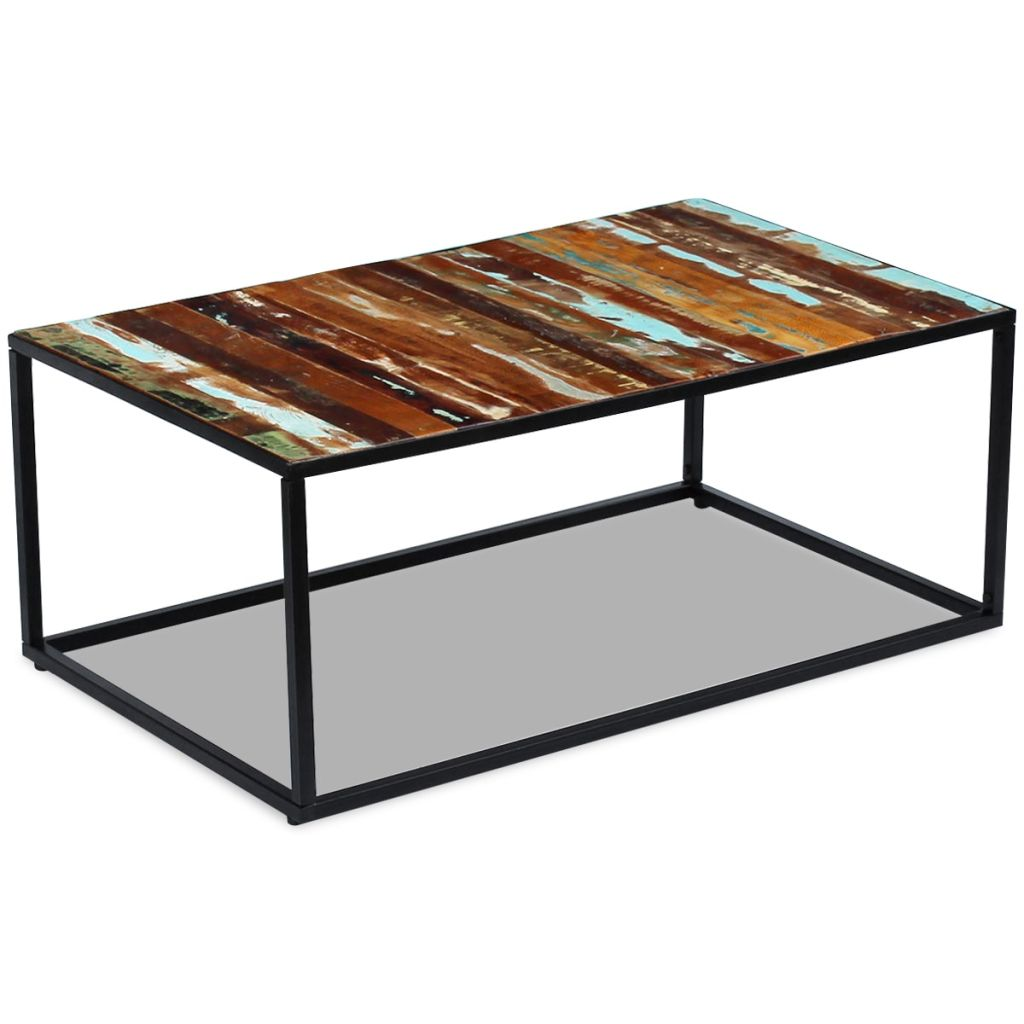 Coffee Table Solid Reclaimed Wood 100x60x40 cm 3