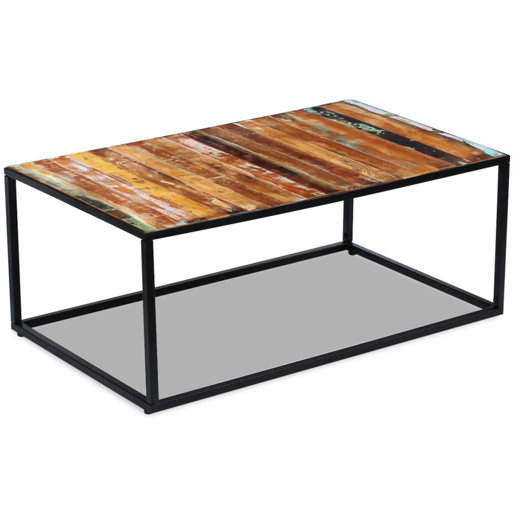 Coffee Table Solid Reclaimed Wood 100x60x40 cm 5