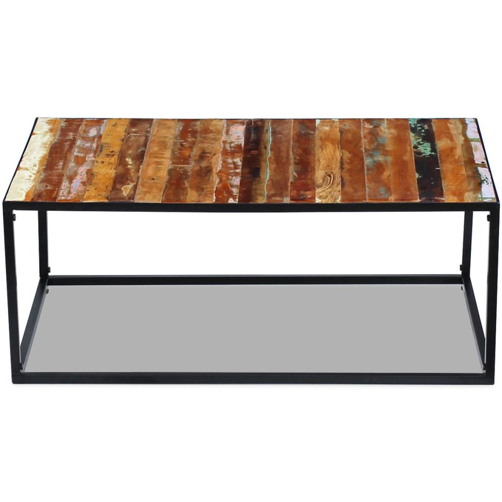 Coffee Table Solid Reclaimed Wood 100x60x40 cm 6